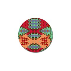Misc Tribal Shapes                                               Golf Ball Marker (4 Pack) by LalyLauraFLM