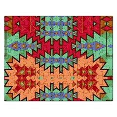 Misc Tribal Shapes                                               Jigsaw Puzzle (rectangular) by LalyLauraFLM