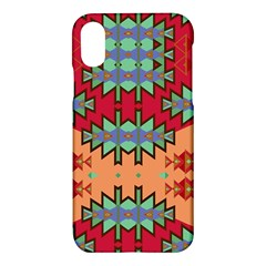 Misc Tribal Shapes                                           Apple Iphone X Hardshell Case by LalyLauraFLM