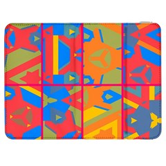 Colorful Shapes In Tiles                                             Htc One M7 Hardshell Case by LalyLauraFLM