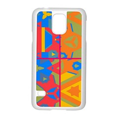 Colorful Shapes In Tiles                                             Motorola Moto G (1st Generation) Hardshell Case by LalyLauraFLM
