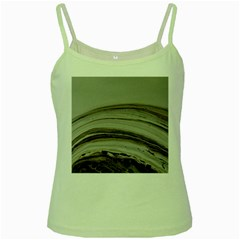 Brown Round Green Spaghetti Tank