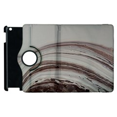 Brown Round Apple Ipad 2 Flip 360 Case by WILLBIRDWELL