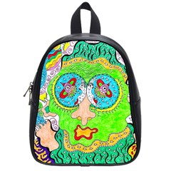 Supersonic Cosmic Galaxy Eyes School Bag (small) by chellerayartisans