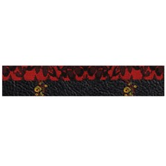 Red And Black Leather Red Lace By Flipstylez Designs Large Flano Scarf