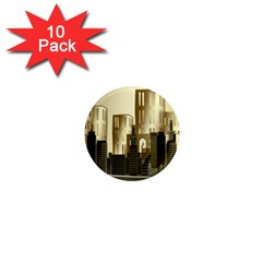 Architecture City House 1  Mini Magnet (10 Pack)
