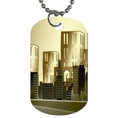 Architecture City House Dog Tag (two Sides)