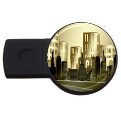 Architecture City House Usb Flash Drive Round (4 Gb)