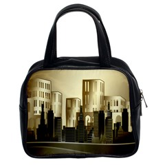Architecture City House Classic Handbag (two Sides)