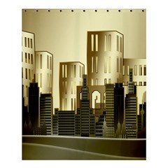 Architecture City House Shower Curtain 60  X 72  (medium)