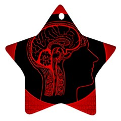 Artificial Intelligence Brain Think Ornament (star)