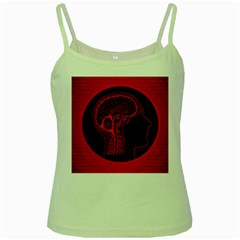 Artificial Intelligence Brain Think Green Spaghetti Tank