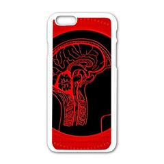 Artificial Intelligence Brain Think Apple Iphone 6/6s White Enamel Case by Samandel