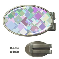 Colorful Background Multicolored Money Clips (oval)