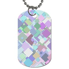 Colorful Background Multicolored Dog Tag (one Side) by Samandel