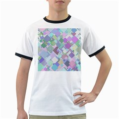 Colorful Background Multicolored Ringer T by Samandel