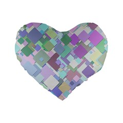 Colorful Background Multicolored Standard 16  Premium Flano Heart Shape Cushions