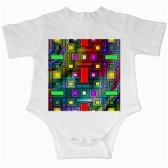 Art Rectangles Abstract Modern Art Infant Creepers by Samandel