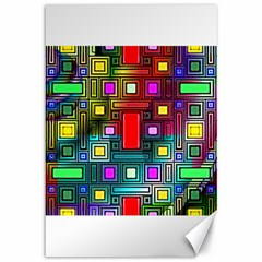 Art Rectangles Abstract Modern Art Canvas 12  X 18