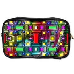 Art Rectangles Abstract Modern Art Toiletries Bag (one Side)