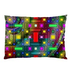 Art Rectangles Abstract Modern Art Pillow Case (two Sides)