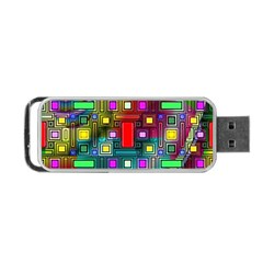Art Rectangles Abstract Modern Art Portable Usb Flash (two Sides)