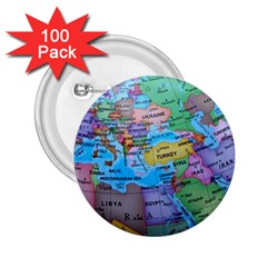 Globe World Map Maps Europe 2 25  Buttons (100 Pack)