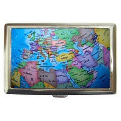 Globe World Map Maps Europe Cigarette Money Case by Samandel