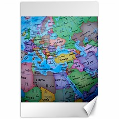 Globe World Map Maps Europe Canvas 24  X 36