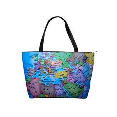 Globe World Map Maps Europe Classic Shoulder Handbag