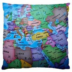 Globe World Map Maps Europe Standard Flano Cushion Case (two Sides)
