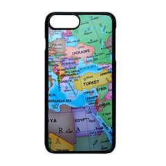 Globe World Map Maps Europe Apple Iphone 8 Plus Seamless Case (black)