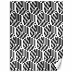 Cube Pattern Cube Seamless Repeat Canvas 36  X 48  by Samandel