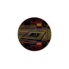Processor Cpu Board Circuits Golf Ball Marker (4 Pack) by Samandel