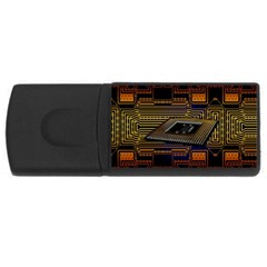 Processor Cpu Board Circuits Rectangular Usb Flash Drive by Samandel