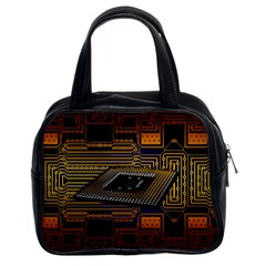 Processor Cpu Board Circuits Classic Handbag (two Sides) by Samandel