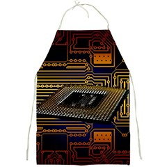 Processor Cpu Board Circuits Full Print Aprons by Samandel