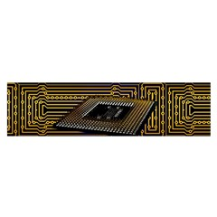 Processor Cpu Board Circuits Satin Scarf (oblong) by Samandel