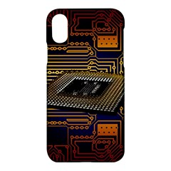Processor Cpu Board Circuits Apple Iphone X Hardshell Case