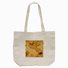 Map Discovery America Ship Train Tote Bag (cream) by Samandel