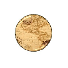 Map Discovery America Ship Train Hat Clip Ball Marker