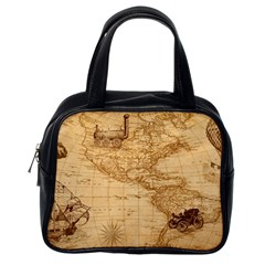 Map Discovery America Ship Train Classic Handbag (one Side)