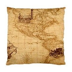 Map Discovery America Ship Train Standard Cushion Case (one Side) by Samandel