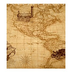 Map Discovery America Ship Train Shower Curtain 66  X 72  (large)  by Samandel