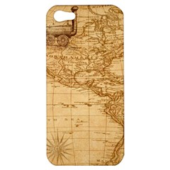 Map Discovery America Ship Train Apple Iphone 5 Hardshell Case