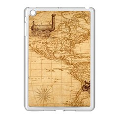 Map Discovery America Ship Train Apple Ipad Mini Case (white) by Samandel