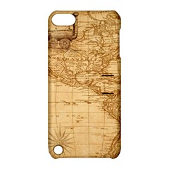 Map Discovery America Ship Train Apple Ipod Touch 5 Hardshell Case With Stand by Samandel