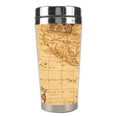 Map Discovery America Ship Train Stainless Steel Travel Tumblers by Samandel