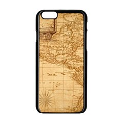 Map Discovery America Ship Train Apple Iphone 6/6s Black Enamel Case