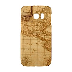 Map Discovery America Ship Train Samsung Galaxy S6 Edge Hardshell Case